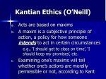 kantian ethics o neill12