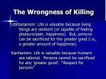 the wrongness of killing