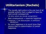 utilitarianism rachels