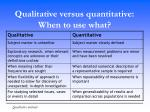 qualitative versus quantitative when to use what
