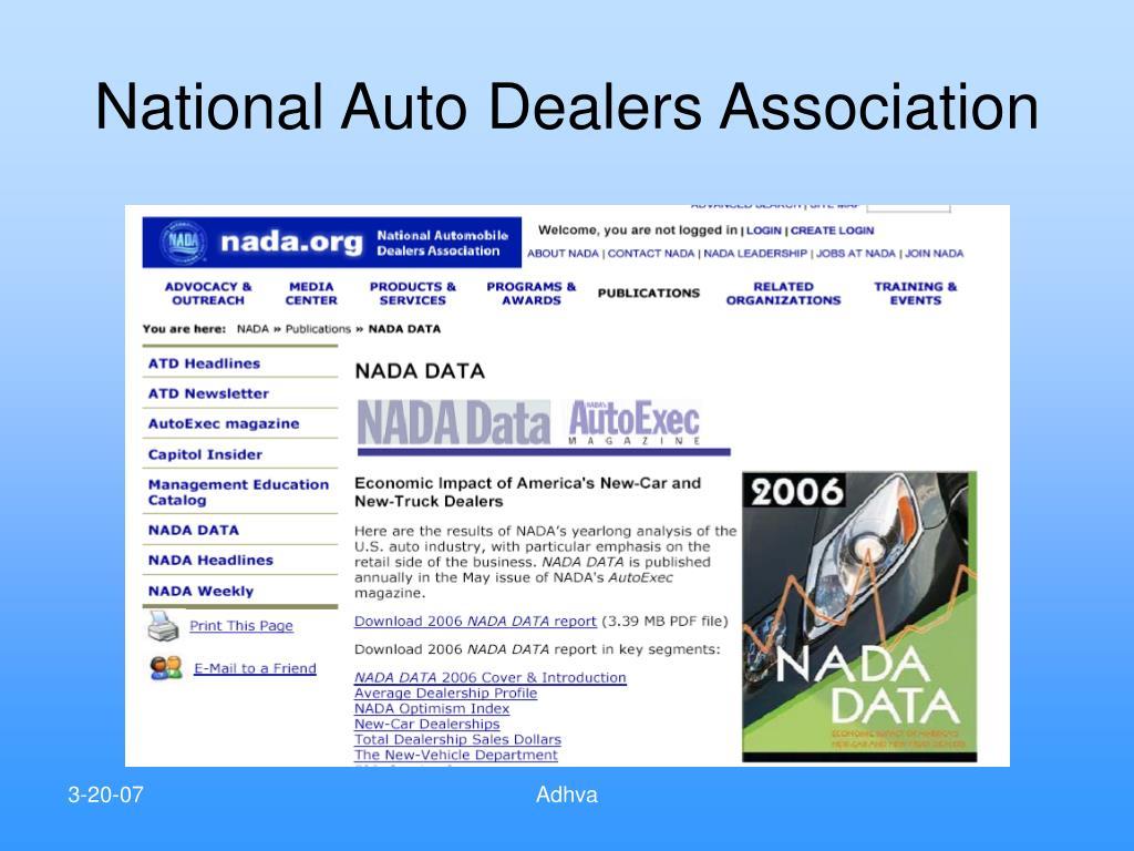 National Auto Dealers Association