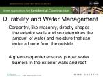 durability and water management