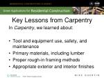 key lessons from carpentry