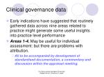clinical governance data