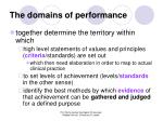 the domains of performance