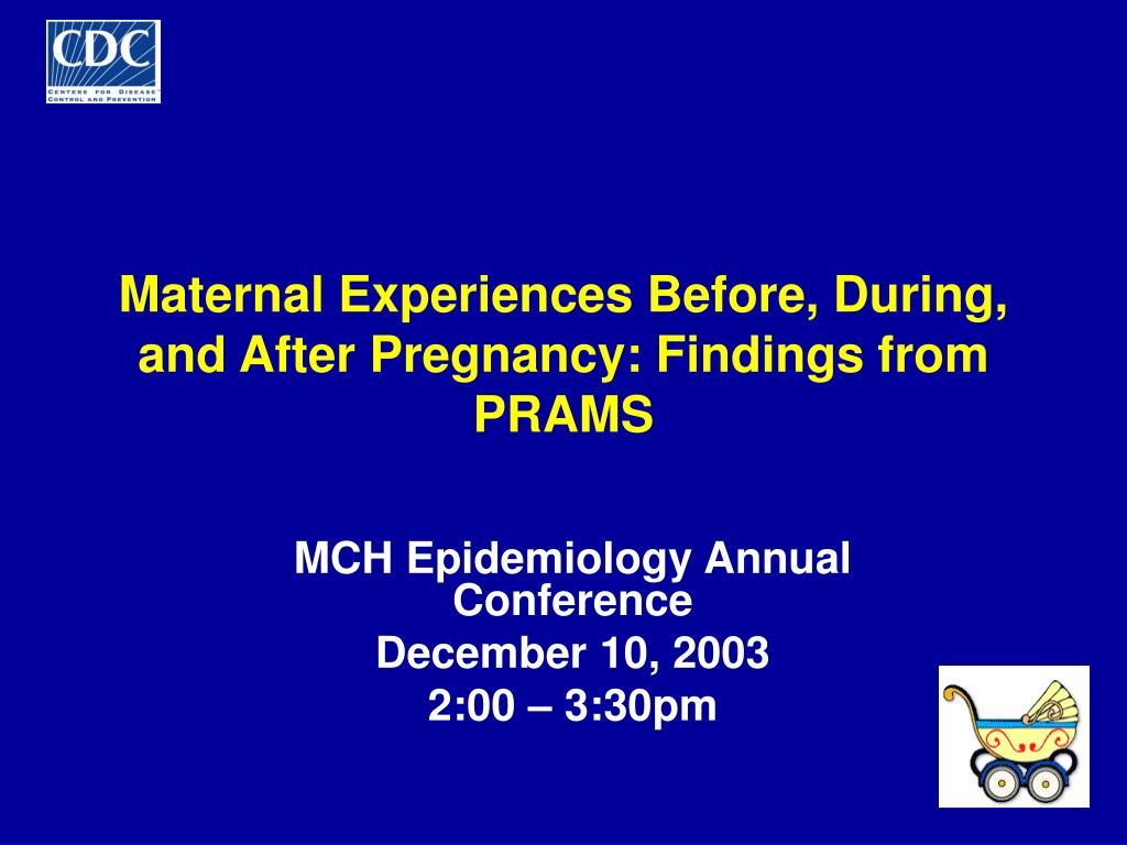 maternal experiences before during and after pregnancy findings from prams l.