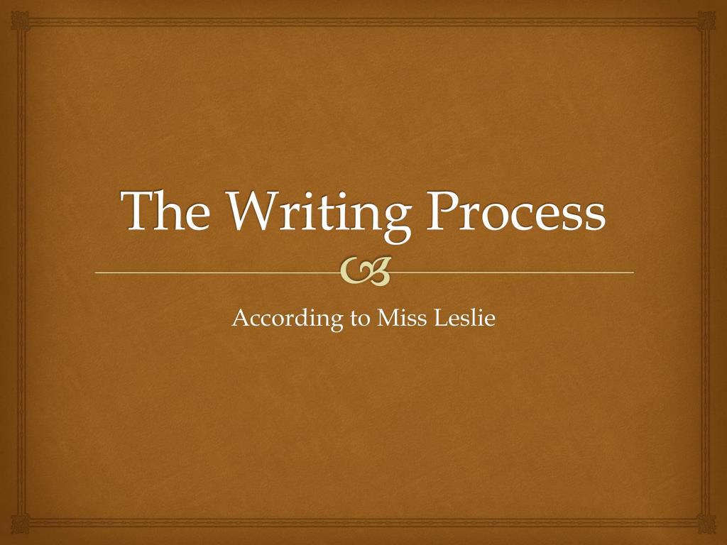 the writing process l.