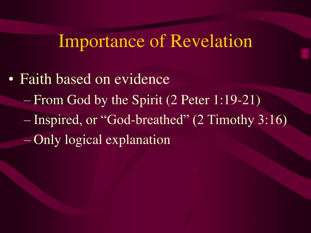 Importance of Revelation