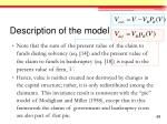 description of the model15