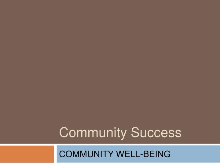 community success n.