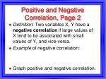positive and negative correlation page 2