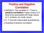 positive and negative correlation