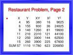 restaurant problem page 2