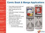 comic book manga applications