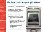 mobile comic shop applications