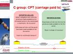 c group cpt carriage paid to