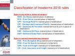classification of incoterms 2010 rules