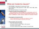 what are incoterms clauses