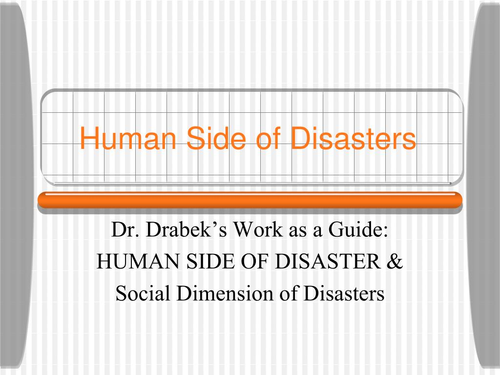 human side of disasters l.