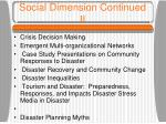 social dimension continued ii