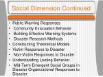 social dimension continued