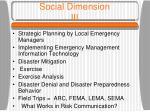 social dimension iii