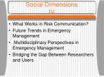 social dimensions iv