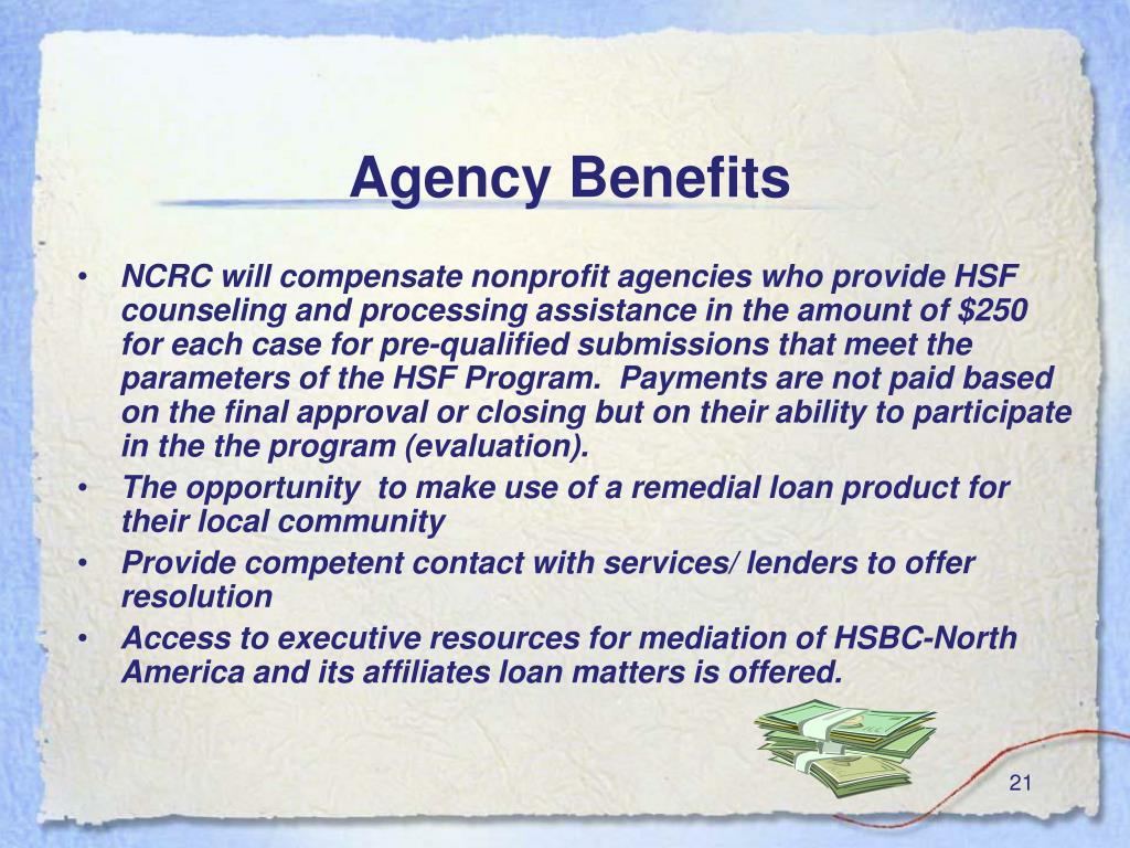 Agency Benefits