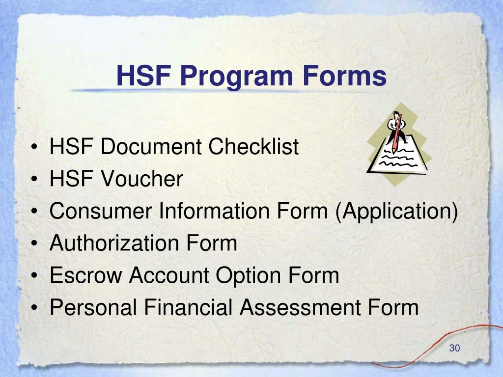 HSF Program Forms