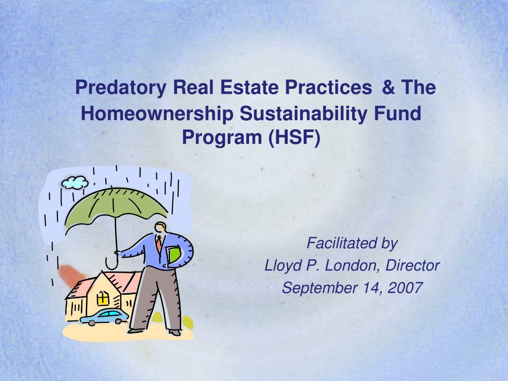 Predatory Real Estate Practices