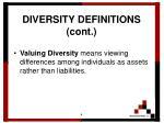 diversity definitions cont