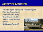 agency requirements1