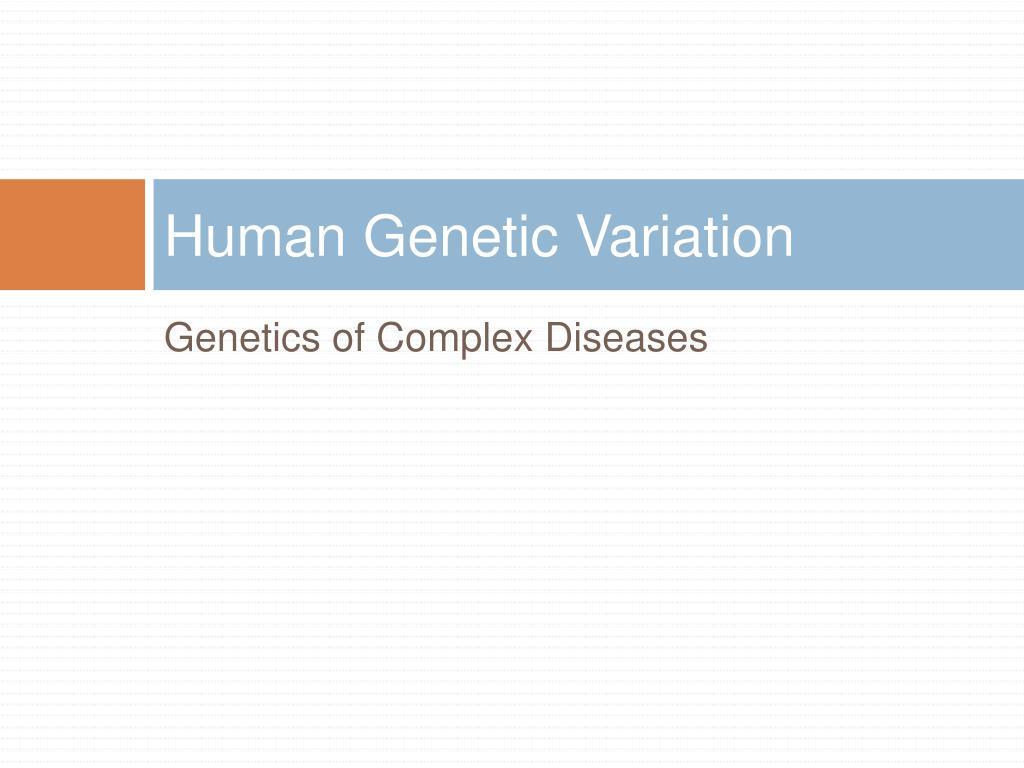 human genetic variation l.