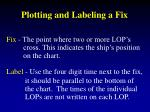 plotting and labeling a fix