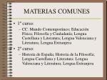 materias comunes