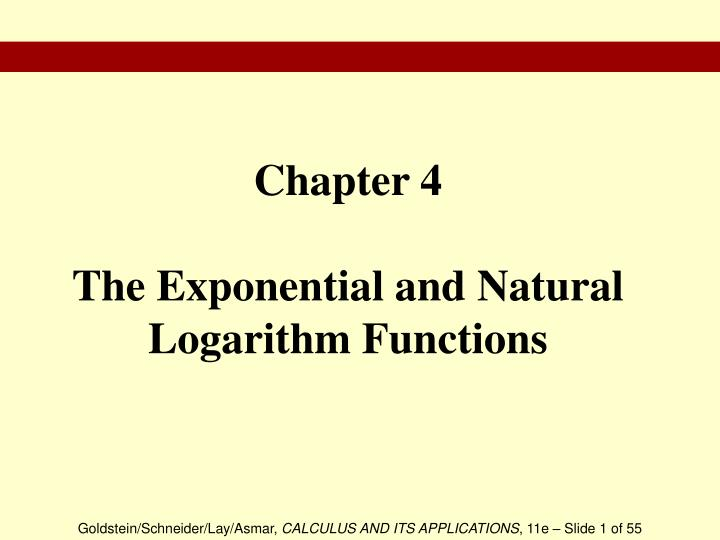 chapter 4 the exponential and natural logarithm functions n.