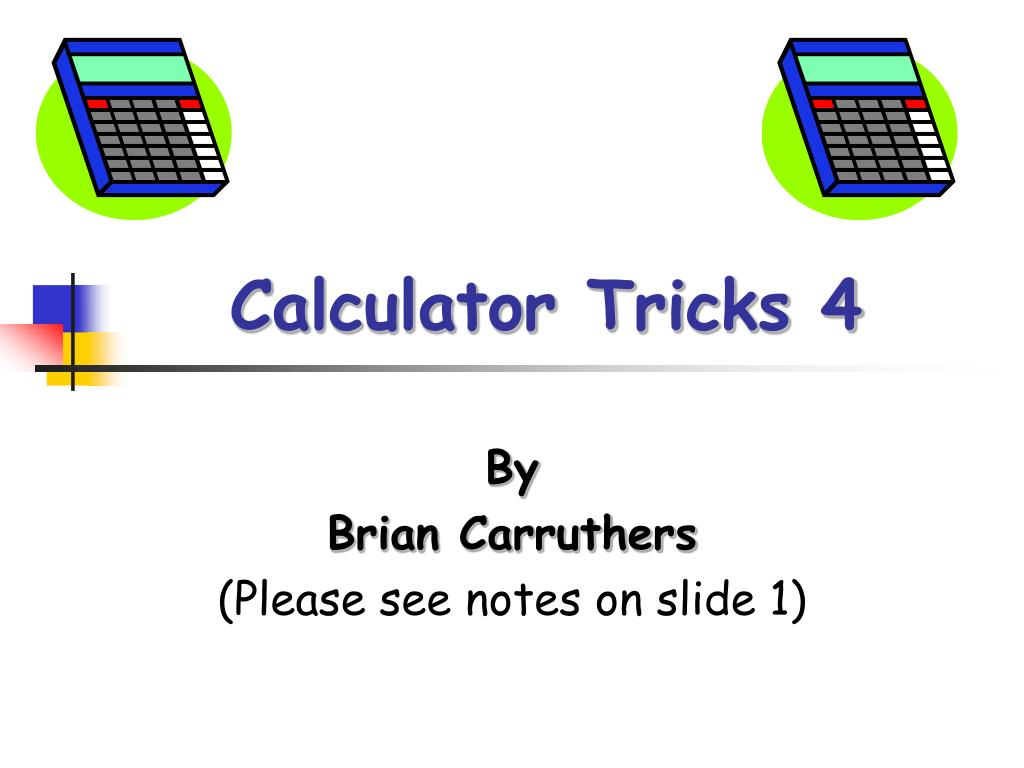 calculator tricks 4 l.