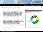 corporate investment on the rise