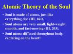 atomic theory of the soul