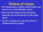 motion of atoms14