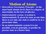 motion of atoms19