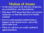 motion of atoms20