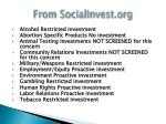 from socialinvest org