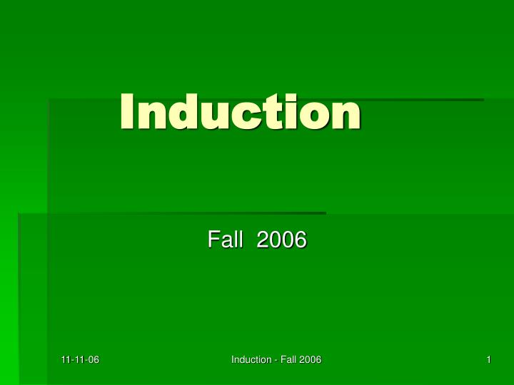 induction n.
