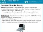 fplic claims review cont d