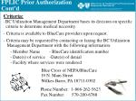 fplic prior authorization cont d