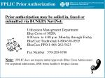 fplic prior authorization