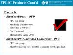 fplic products cont d