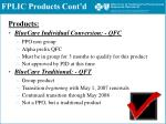 fplic products cont d1