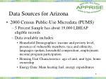 data sources for arizona